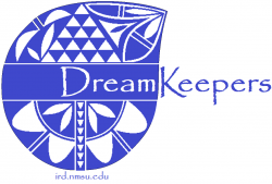 Dream Keepers wording and image of a blue vase pottery